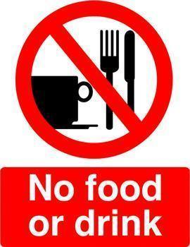 bloodborne pathogens drink food standard sign unit graphic